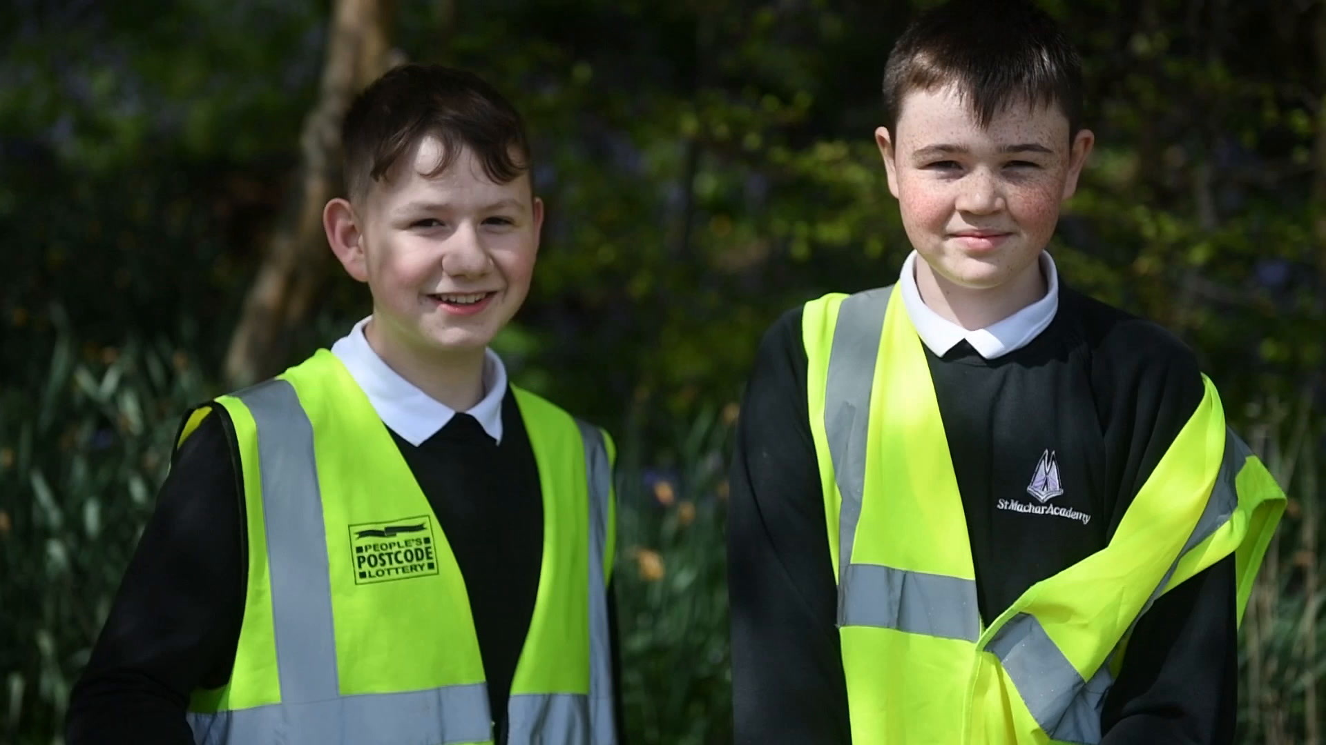 St Machar Academy pupils were involved in the litter pick.