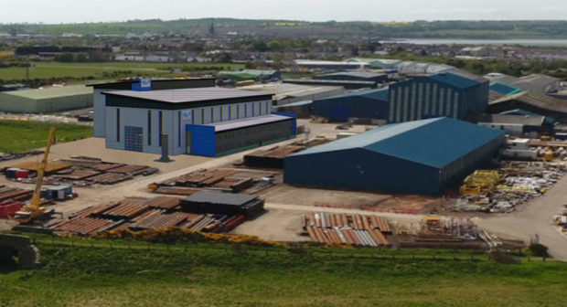 How the finished site at Baker Hughes in Montrose could look