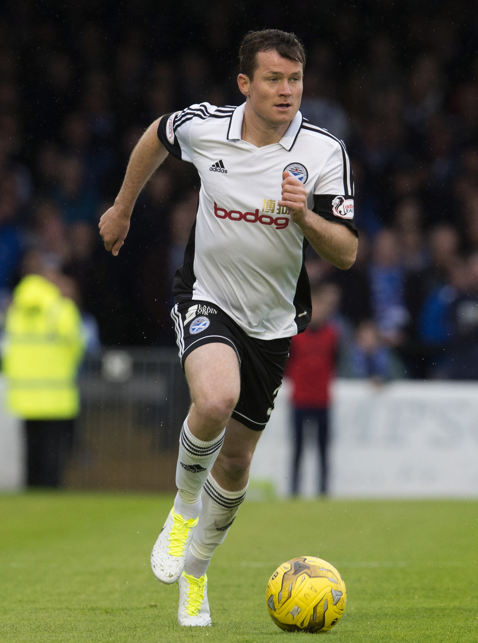Peterhead's new signing Paddy Boyle in action for Ayr United.