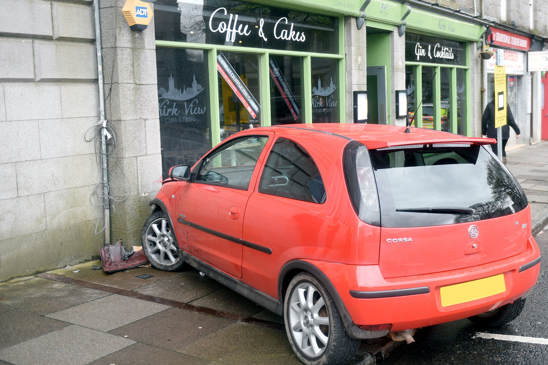 The accident took place outside the Kirk View Cafe on Union Terrace