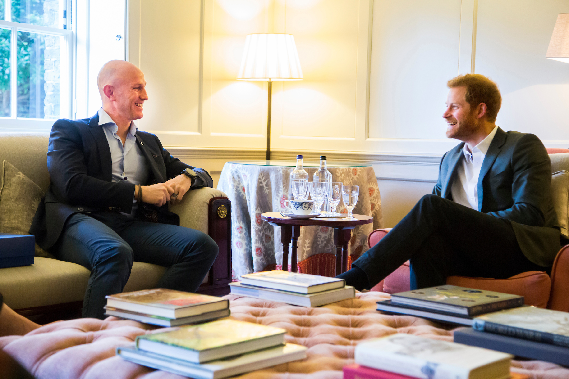 Dean Stott with Prince Harry.