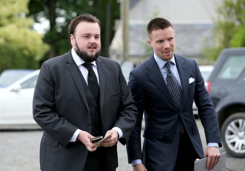 John Bradley (left) and Joe Dempsie