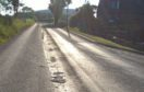 A stretch of the A920, Huntly to Dufftown Road required repairs