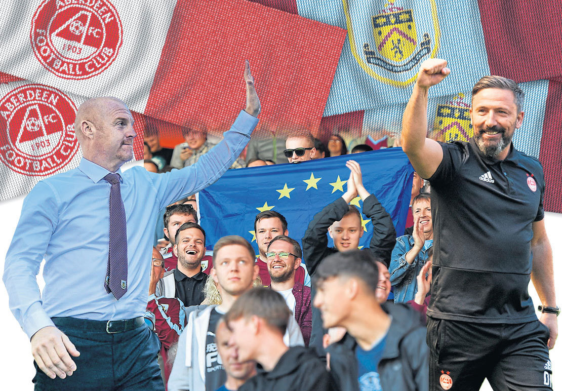 Sean Dyche and no doubt a huge number of Burnley fans will be heading across the border to face Derek McInnes' men