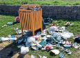 Some of the rubbish at Balmedie Beach.