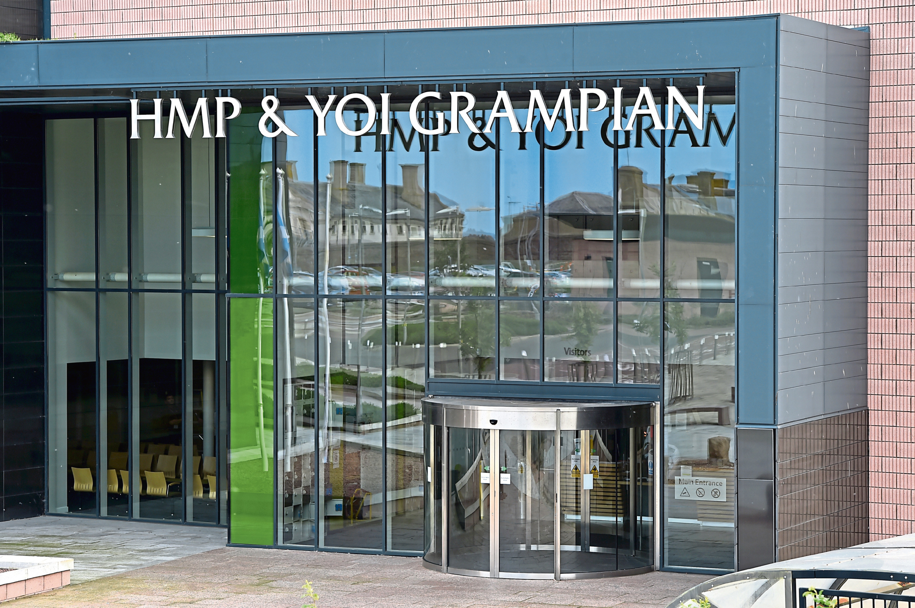 The incident is alleged to have taken place at HMP Grampian on April 19
