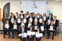 The pupils from Oldmachar Academy with their CREST Discovery Awards.