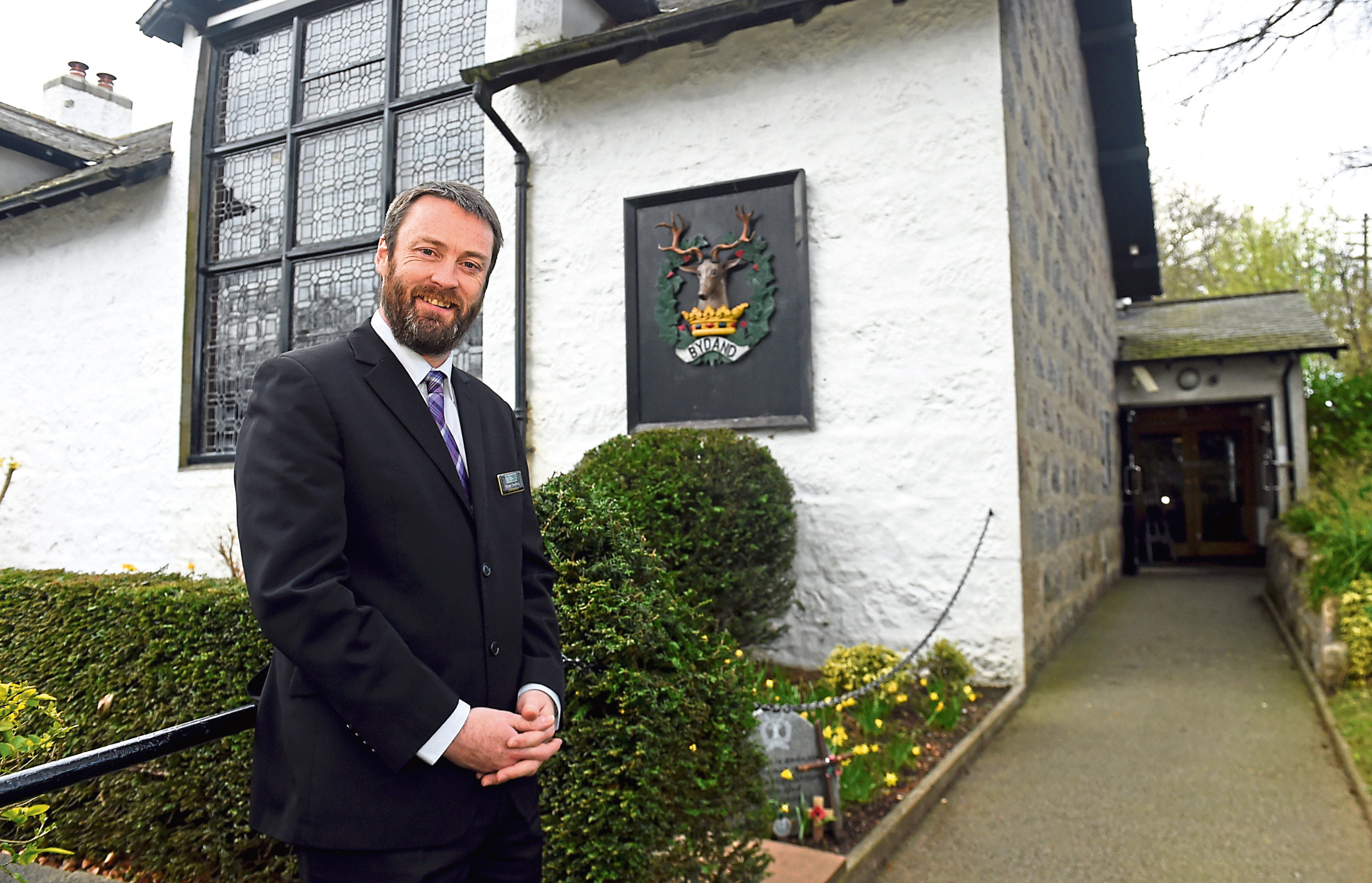 Bryan Snelling outside the Gordon Highlanders Museum