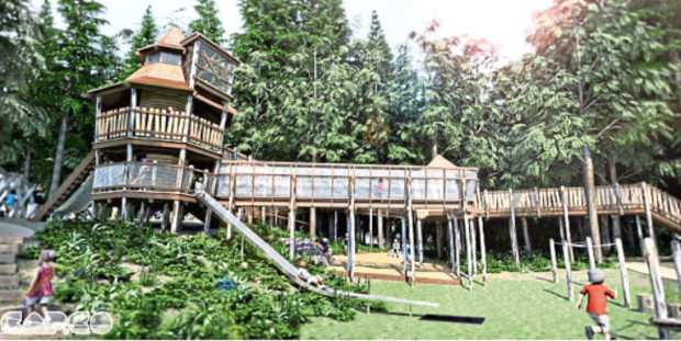 How the playpark at Crathes Castle could look