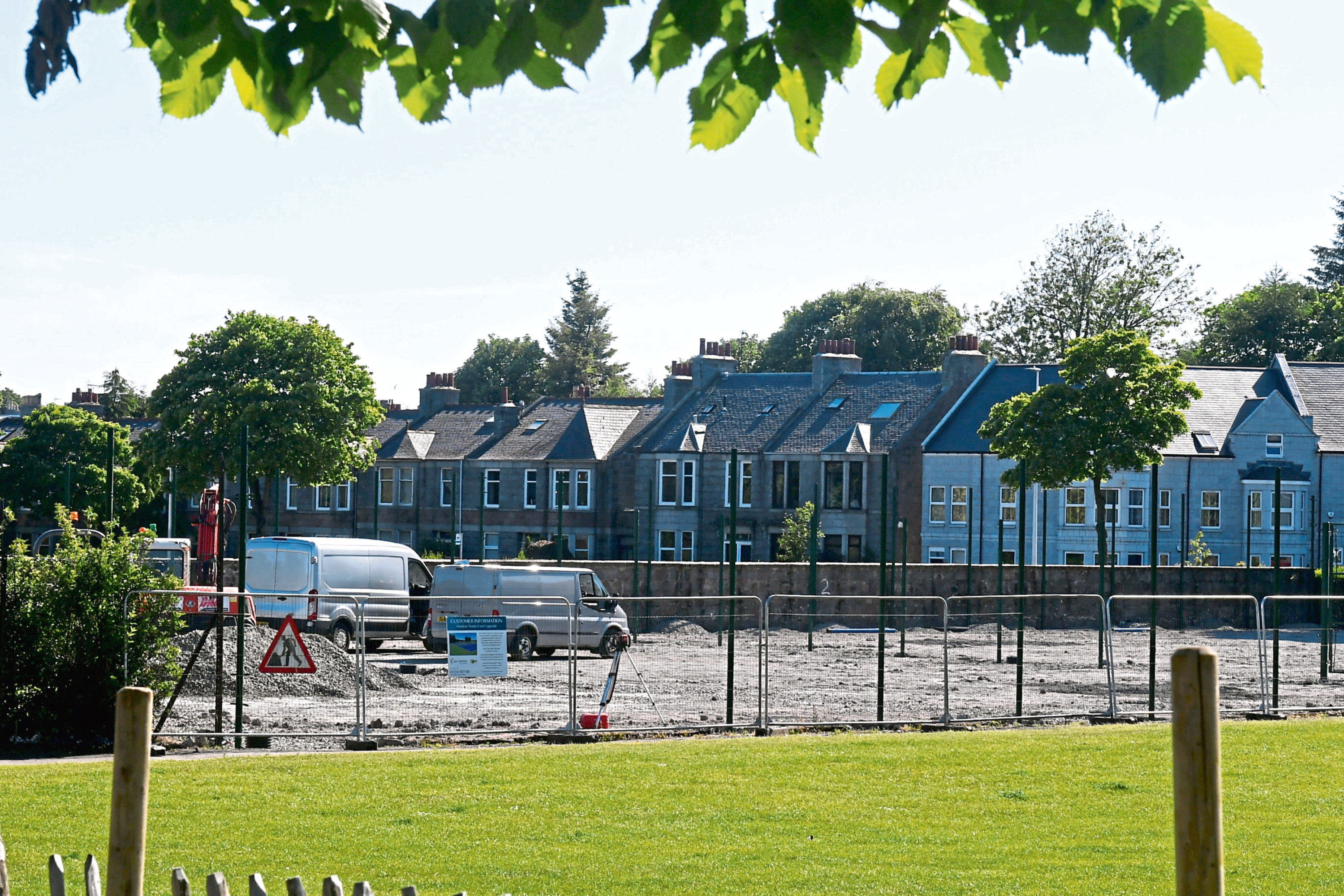Westburn Park tennis courts are being upgraded
