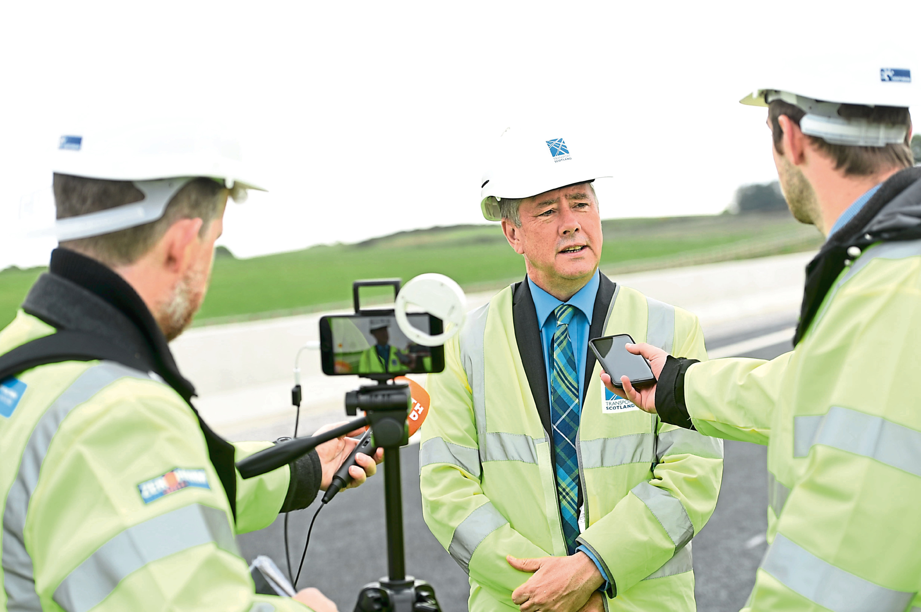 Keith Brown visited part of the AWPR today and confirmed a weekend of events will take place in September