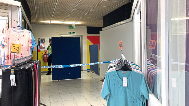 The scene at Aberdeen Market where Frank Finnie's body was discovered