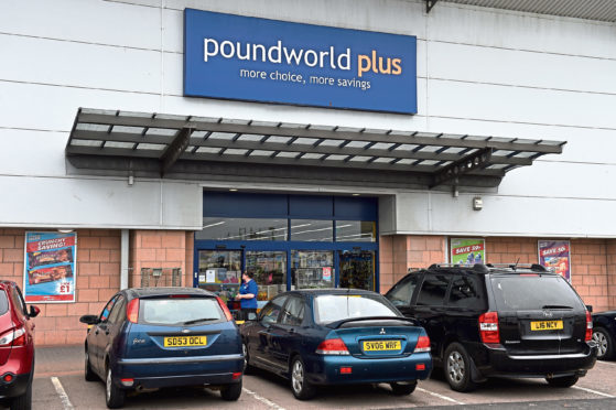 Aberdeen's Poundworld store at the beach