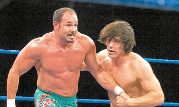 Chavo Guerrero, left, at the AECC in 2005.