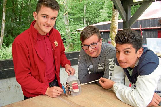 Hazlehead Academy pupils Kieran Hadden, 15, and Hadi Hamada, 16, took part in the Environment Day with the Prince's Trust