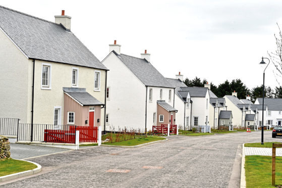 Some of the houses already built in Chapelton of Elsick
