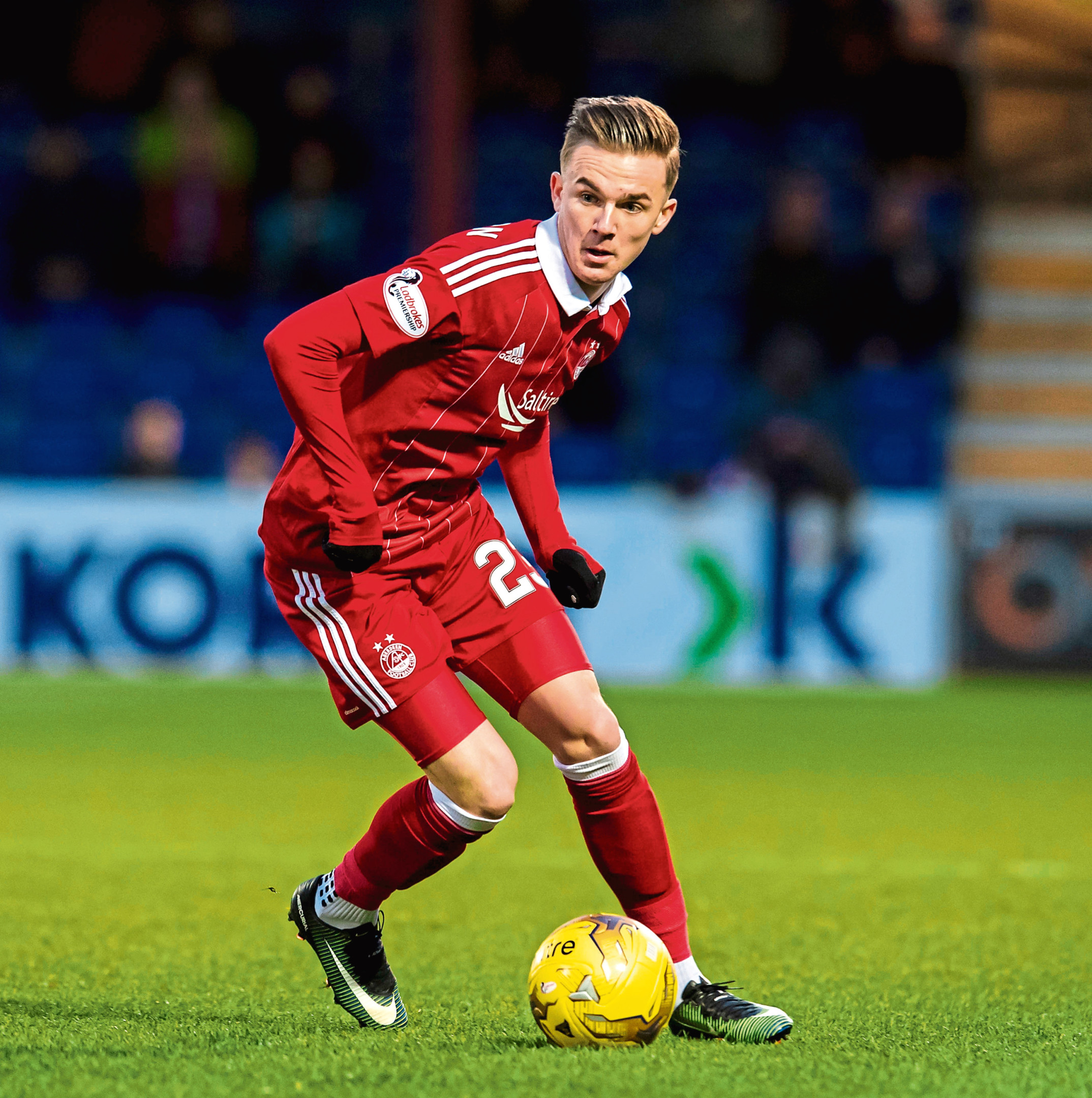 James Maddison during his loan spell with Aberdeen.