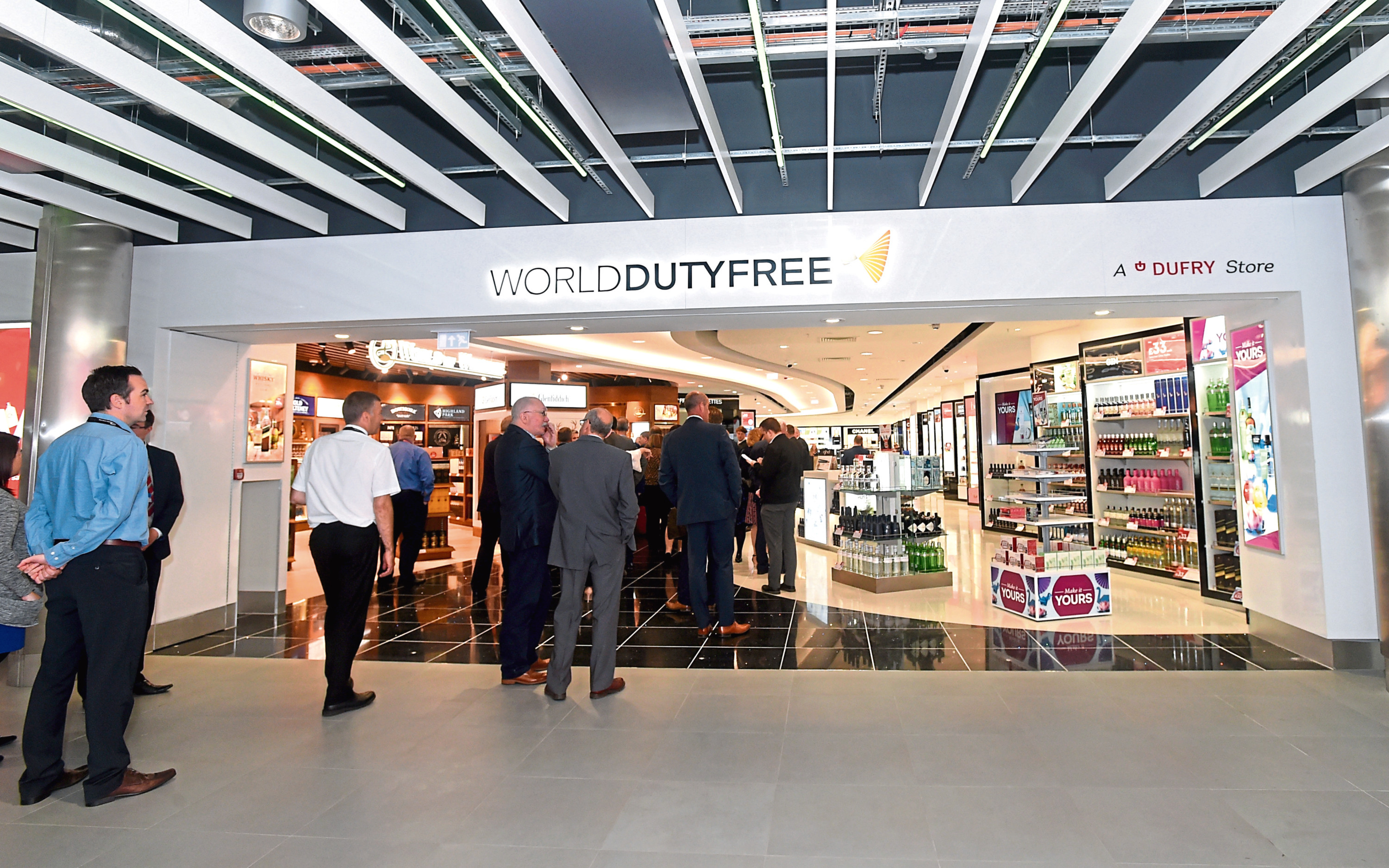 The new, expanded, duty free area at Aberdeen airport.