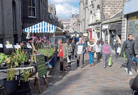 Locators of Belmont Street Market, Aberdeen. 30/09/2017. Picture by KATH FLANNERY