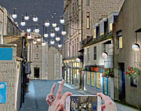 An artist's impression of how the lamps could look