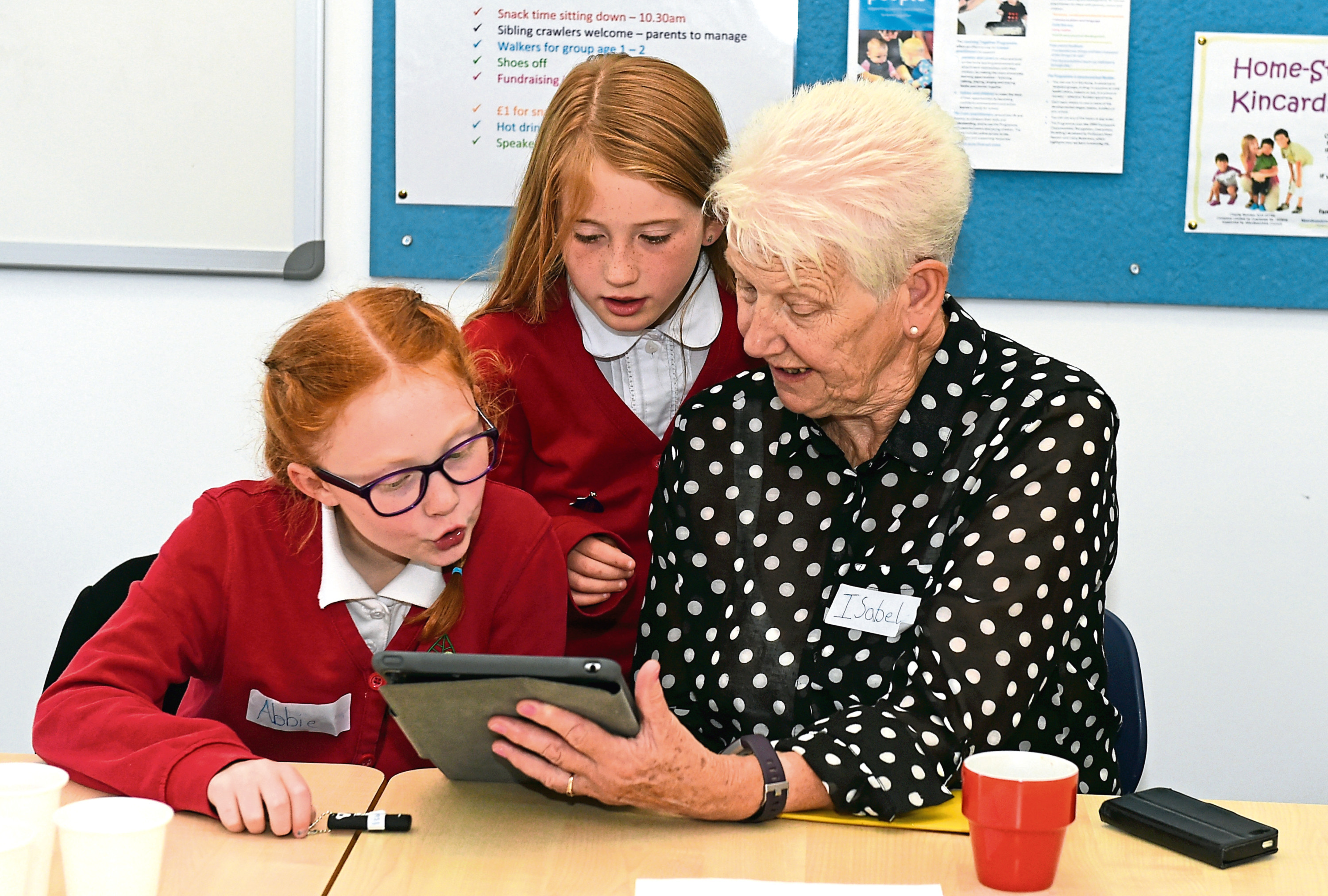Pupils will be giving elderly people lessons in technology.