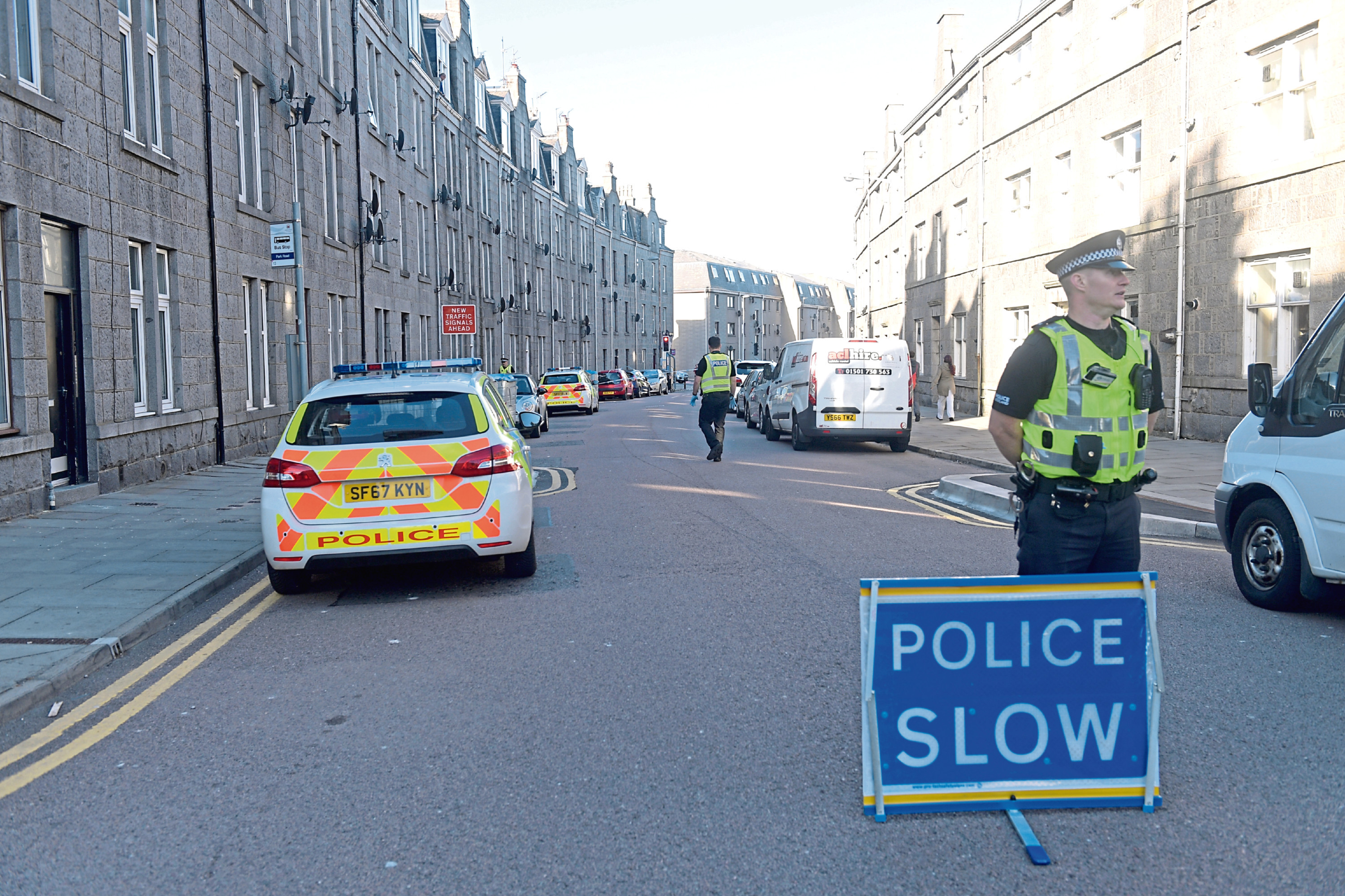 Police are appealing for witnesses after the incident on Urquhart Road.