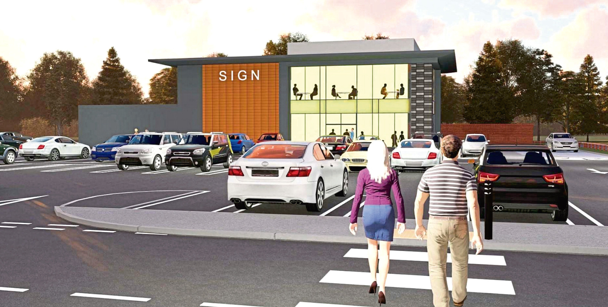 How the two-storey drive-thru restaurant next to Asda in Portlethen could look