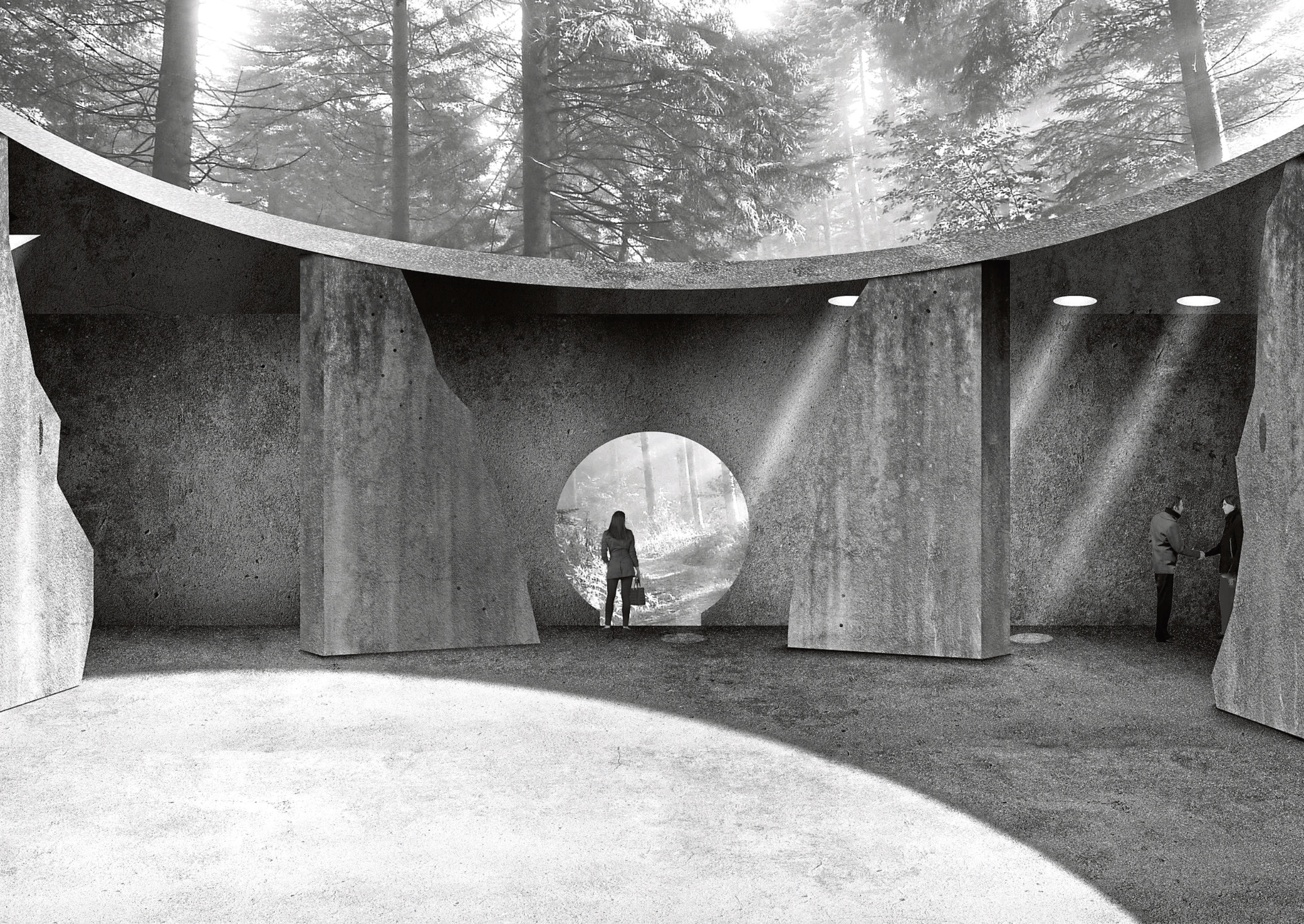 Sophie Perrott, who is in her final year of studies at RGU, has designed a resomation complex and memorial gardens which would be located on Craigingles Hill and woodland in Maryculter.