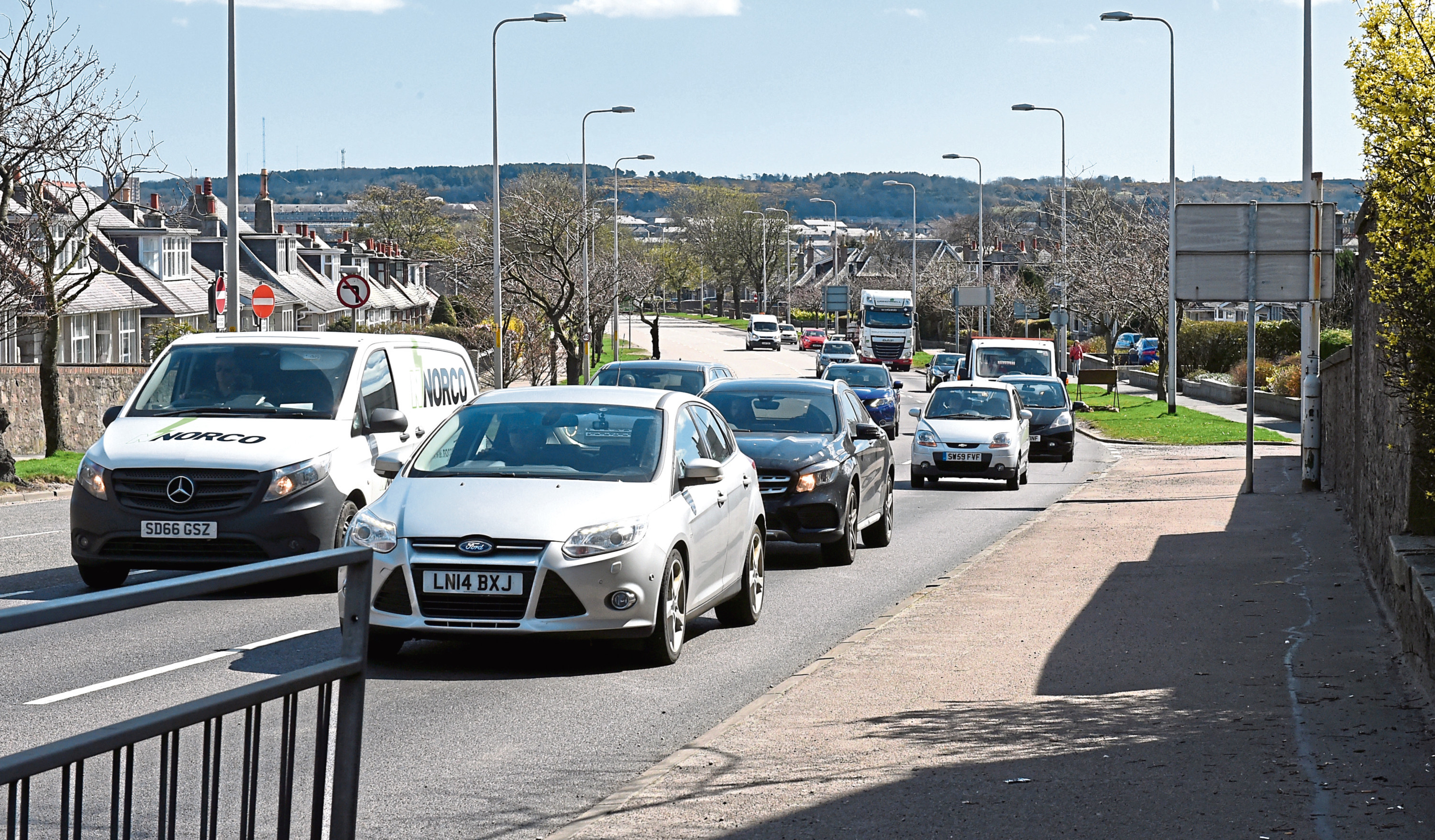 The number of cars on Aberdeen's road are approaching pre-lockdown levels