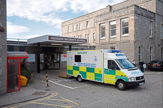 The man complained to a watchdog about his wife's treatment at Aberdeen Maternity Hospital