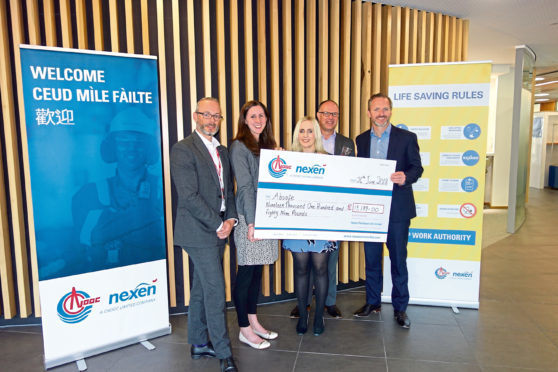 Safety education charity Absafe are celebrating a new partnership with oil and gas company Nexen