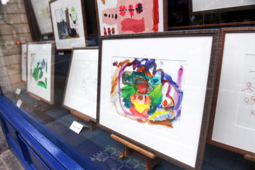 Some of the artwork on display.
