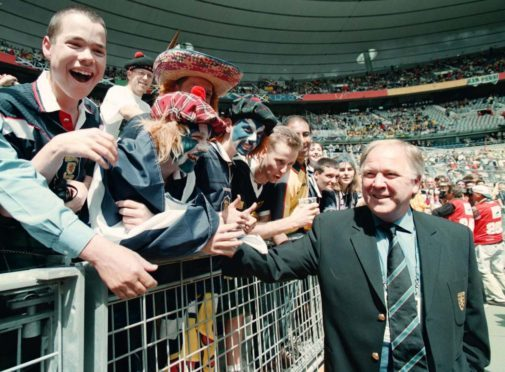 Scotland Manager Craig Brown meets fans at the Stade De France in Paris before the opening World Cup match against Brazil.