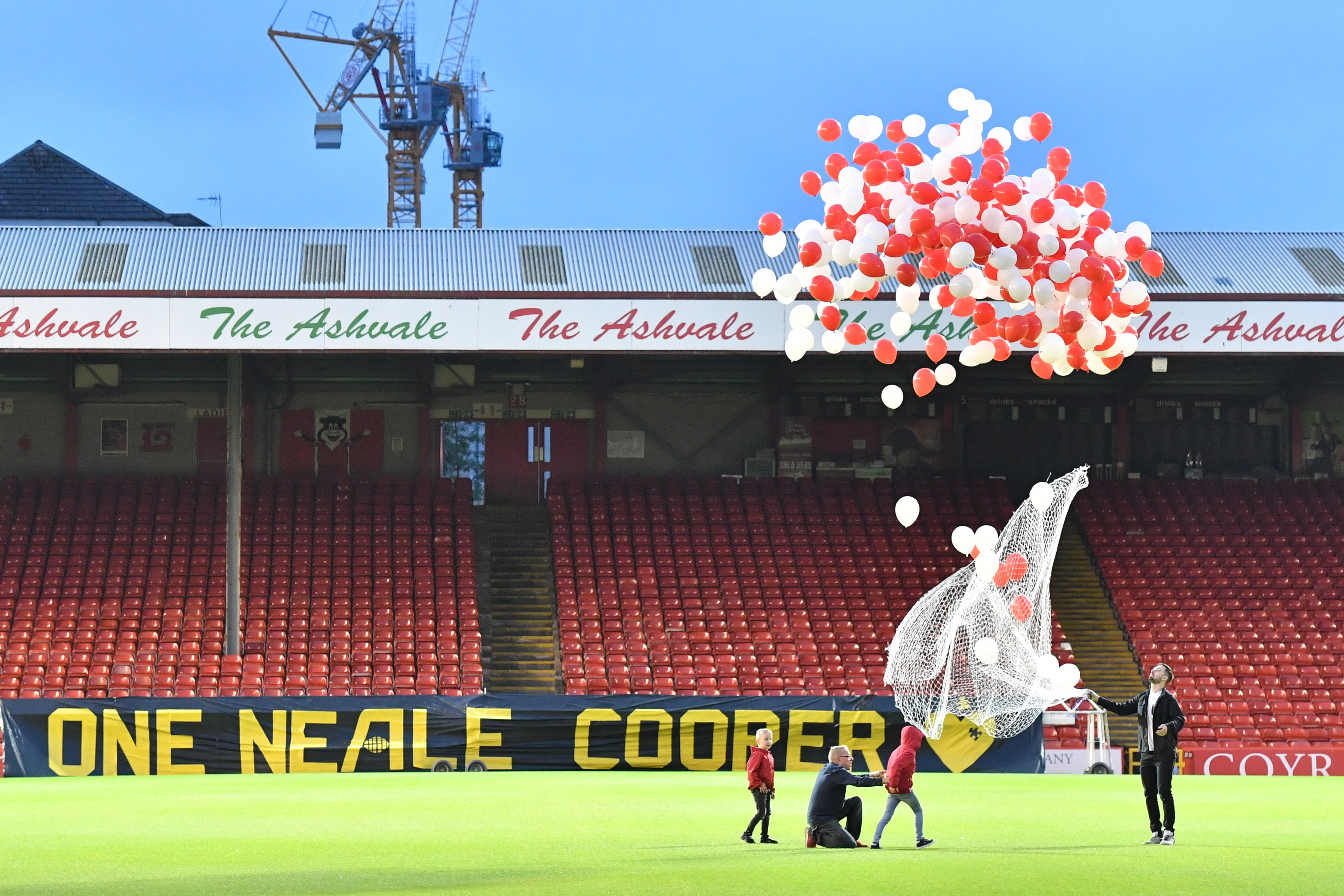 220 balloons were released in memory of Neale tonight