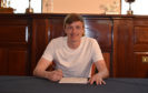 Chris Forrester signing for Aberdeen