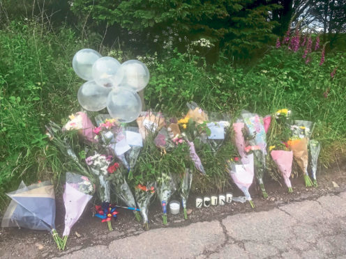 Upset teenagers flocked to the scene yesterday to lay flowers and light candles