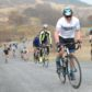 Paul Finnie, who is cycling 10,000 miles in memory of his father in law