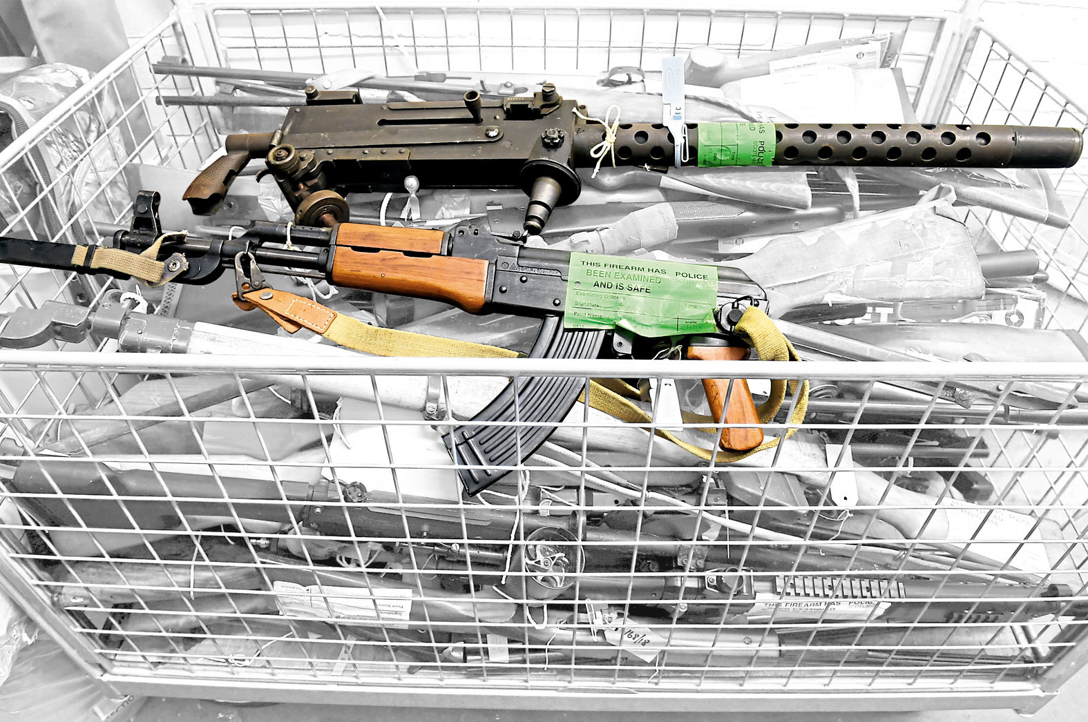 Last summer Police Scotland held a firearms amnesty - these are some of the weapons handed in