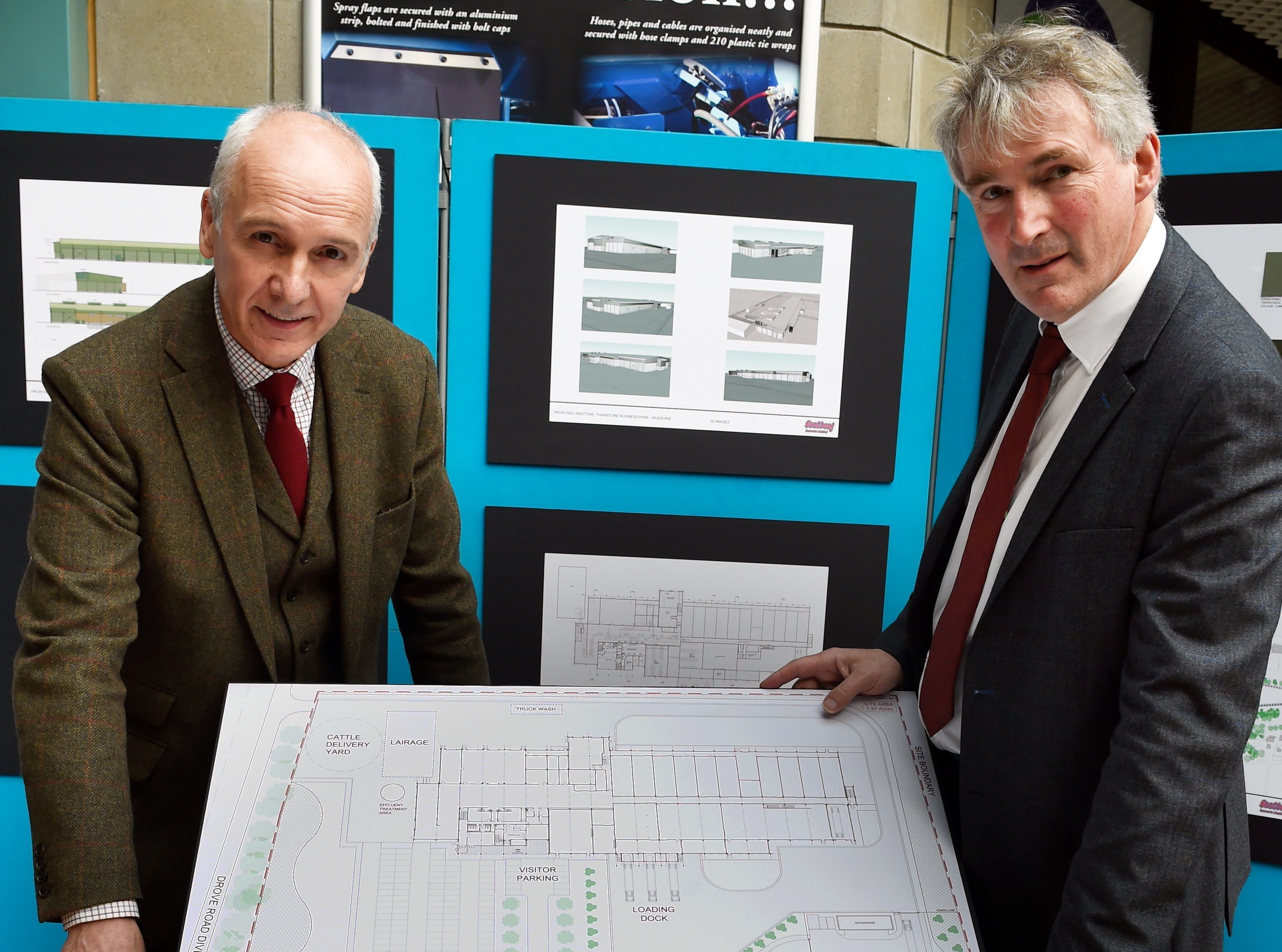 Uel Morton of ScotBeef, left, and architect David Nimmo