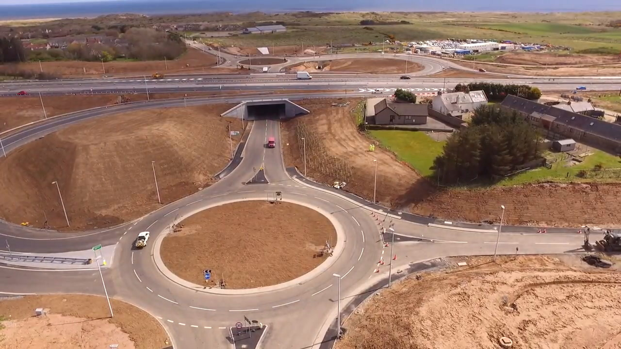 The diversion will take motorists via the new Balmedie junction.