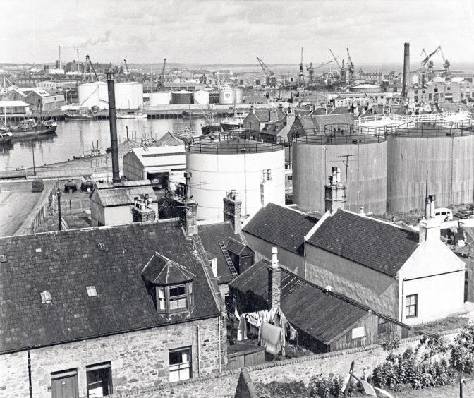 A view across Torry towards Aberdeen Harbour