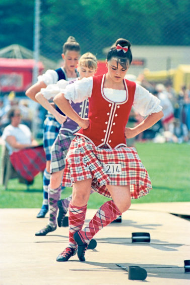 A study in complete concentration from Highland dancers at the event