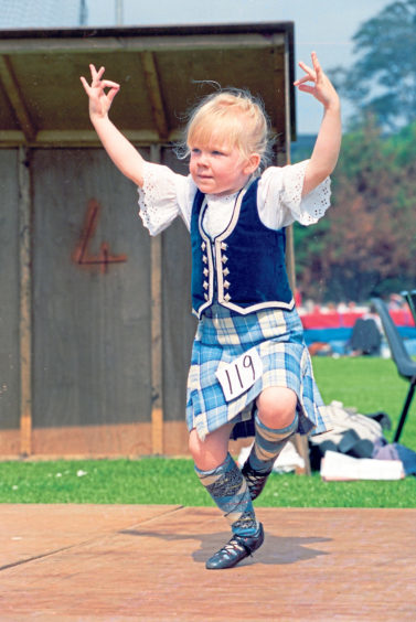 Four-year-old Samantha Leslie, from the Ann Murray School of Dancing