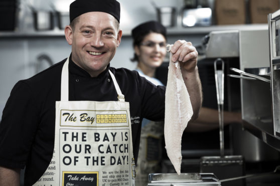 Calum Richardson of the Bay Fish and Chips in Stonehaven
