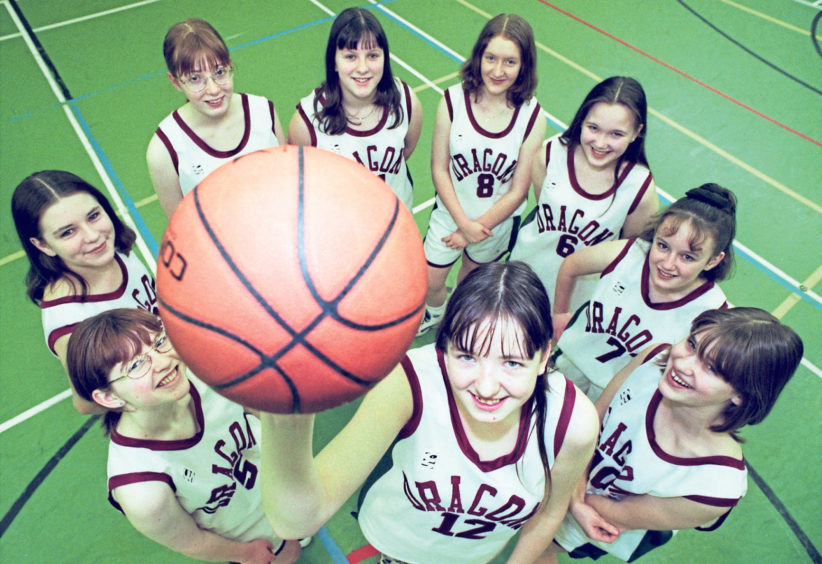 Torry Academy under-15 girls basketball team reached the final of the Scottish Cup in 1998