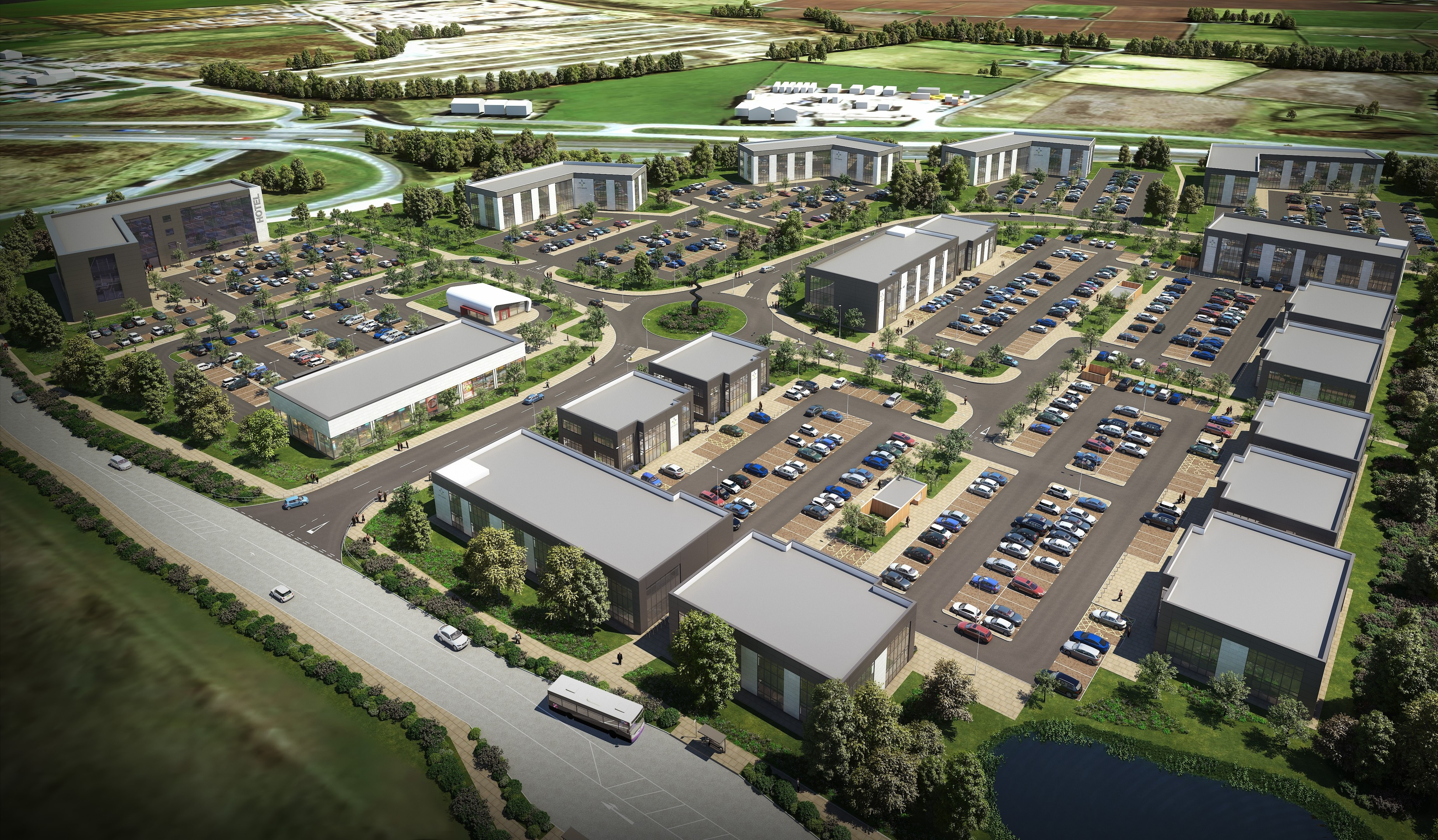 An artist's impression of how the completed development could look
