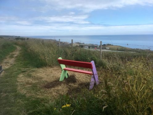 A bench installed by a member of the group