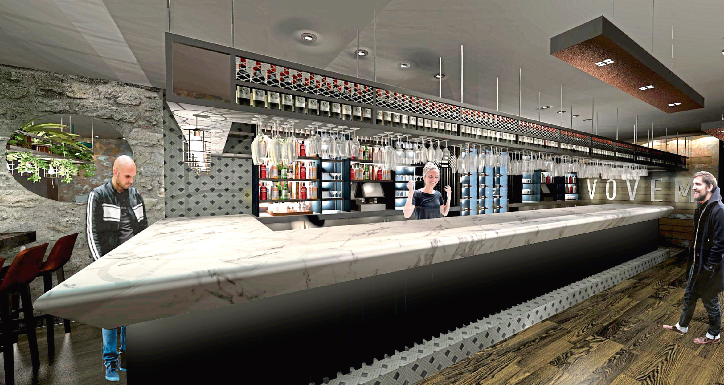 An artist impression of the bar