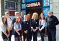 Harlaw Academy pupils at the launch of the film