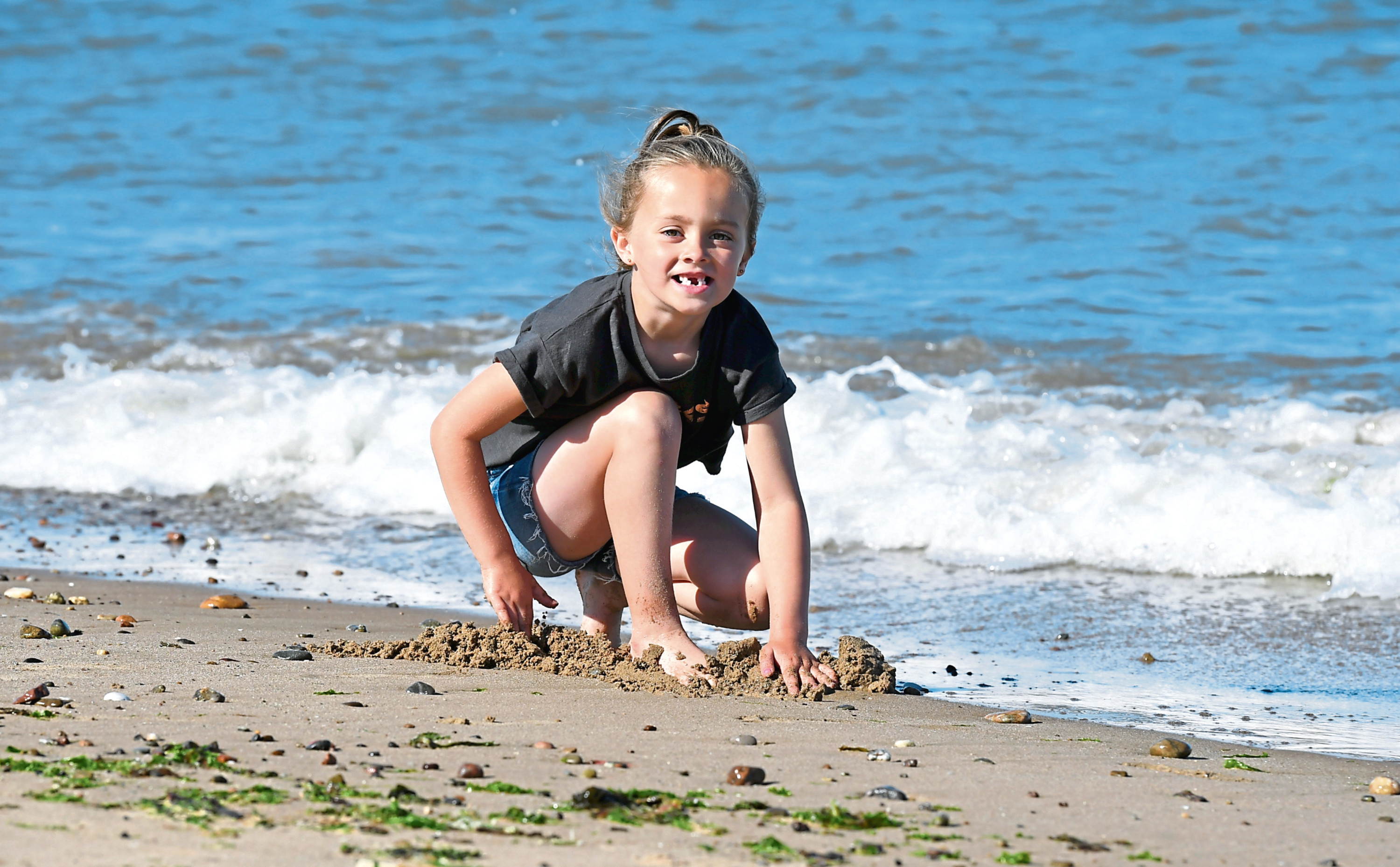 Families across the region have been making the most of the weather